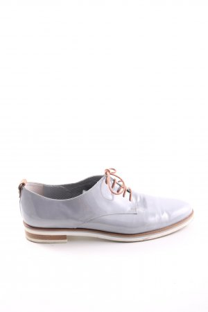 Maripé Zapatos estilo Oxford gris claro estilo «business»