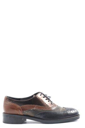 Maripé Oxfords zwart-bruin zakelijke stijl