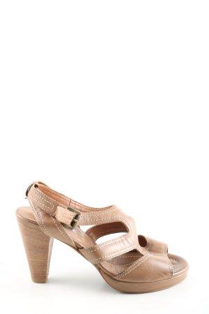 Maripé Riemchen-Sandaletten braun Casual-Look