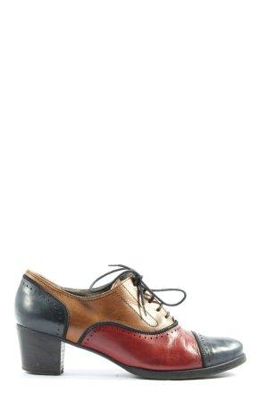 Maripé Schnür-Stiefeletten mehrfarbig klassischer Stil