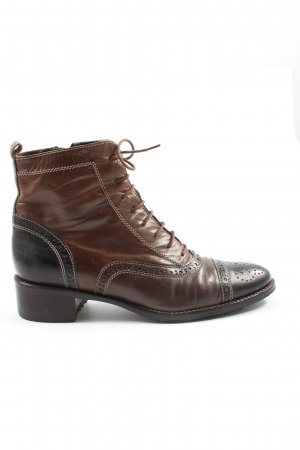 Maripé Lace-up Booties brown-black casual look