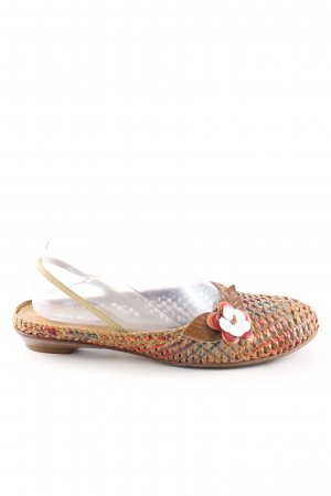 Maripé Slingback Ballerinas check pattern street-fashion look