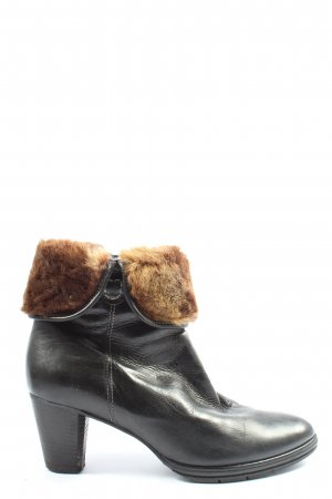 Maripé Slouch Stiefeletten schwarz-braun Casual-Look