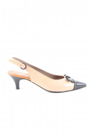 Maripé Pointed Toe Pumps cream-black business style
