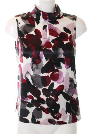 Mariposa ärmellose Bluse abstraktes Muster Business-Look