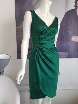 Mariposa designerkleid edles grün 32 gefüttert Raffung 229 wie neu