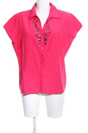 Mariposa Kurzarm-Bluse pink Business-Look