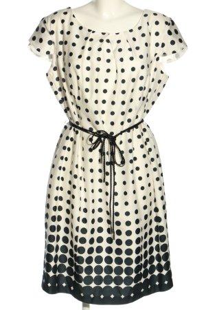 Mariposa Kurzarmkleid weiß-schwarz Allover-Druck Casual-Look