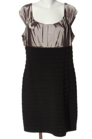 Mariposa Abito a maniche corte nero-bronzo effetto bagnato