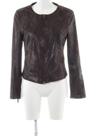 Mariposa Kurzjacke schwarz-braun Streifenmuster Casual-Look