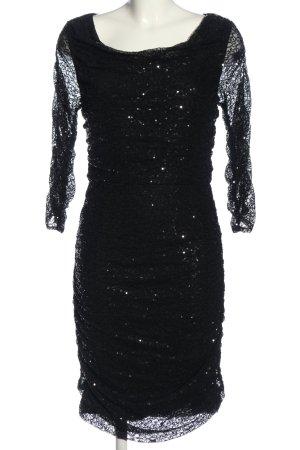 Mariposa Langarmkleid schwarz Elegant