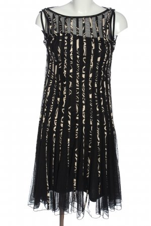 Mariposa Abito midi nero-bianco sporco motivo astratto elegante