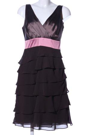 Mariposa Trägerkleid schwarz-pink Business-Look