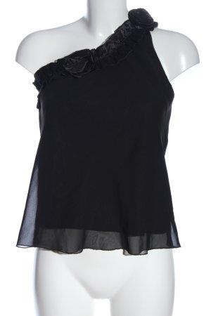 Marisa One Shoulder Top black casual look
