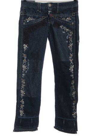 Marithé + Francois Girbaud High Waist Jeans blau-schwarz Casual-Look