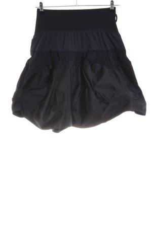 Marithé + Francois Girbaud Rok met hoge taille zwart casual uitstraling