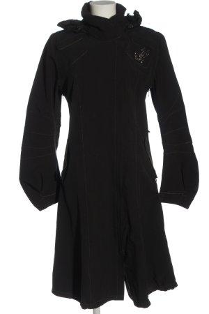 Marithé + Francois Girbaud Abrigo con capucha negro look casual