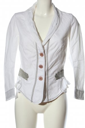 Marithé + Francois Girbaud Short Blazer white-khaki casual look