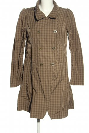 Marithé + Francois Girbaud Trenchcoat braun Karomuster Casual-Look