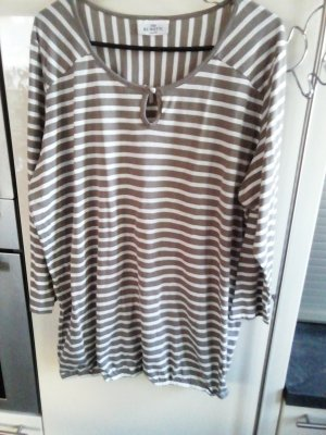 Gina Benotti Stripe Shirt white-taupe