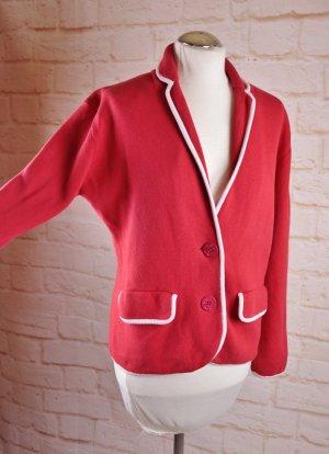 Maritim Strickjacke Cardigan Größe XL 42 44 Rot Weiß Strick Blazer Jacke Anker Kontrast