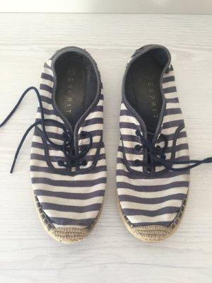Esprit Zapatos de marinero azul-blanco Algodón