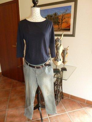 C&A Jeans a 7/8 blu scuro-bianco