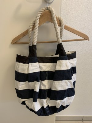 Pouch Bag white-dark blue
