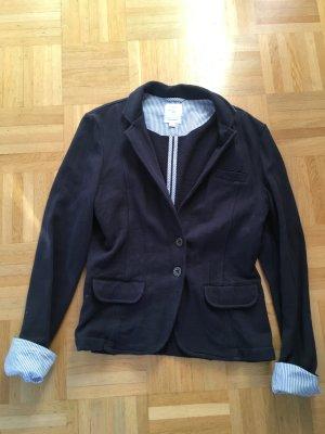 s.Oliver Sweat Blazer dark blue cotton
