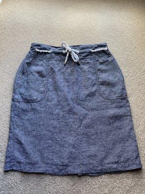 s.Oliver Selection Linen Skirt white-dark blue linen