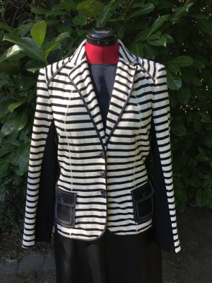 Apanage Blazer en maille tricotée noir-blanc coton