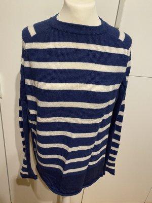 Mih jeans Maglione lavorato a maglia bianco-blu Mohair
