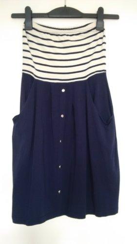 maritimes dunkelblau gestreiftes Vero Moda Kleid Größe S
