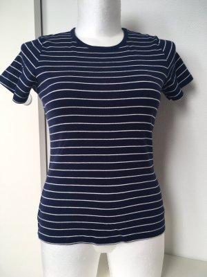Lands' End T-shirt blu scuro-bianco sporco