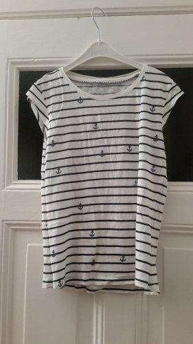 Only Stripe Shirt white-dark blue