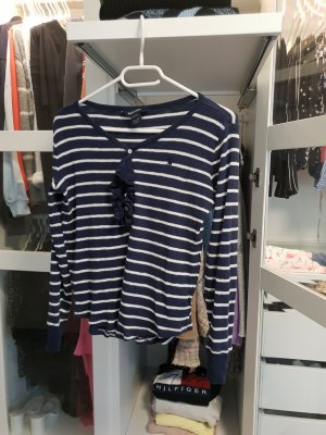 maritimes shirt Langarmshirt von Ralph Laureen gr L mit Rüschen