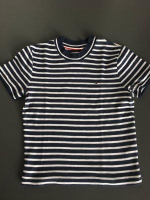 Tommy Hilfiger Maglietta a righe bianco sporco-blu scuro