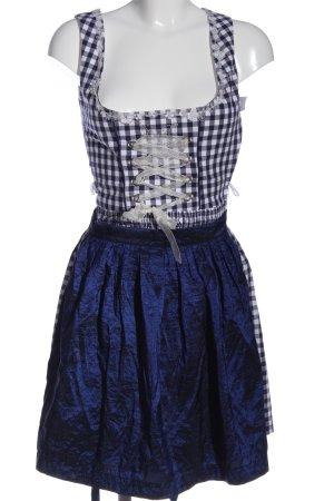 MarJo Dirndl blau-weiß Karomuster klassischer Stil