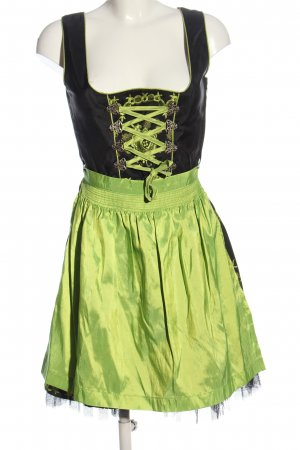 MarJo Dirndl czarny-zielony Elegancki
