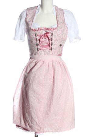 MarJo Dirndl rosa motivo floreale stile classico