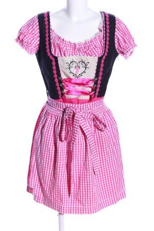 MarJo Vestido Dirndl estampado a cuadros look casual