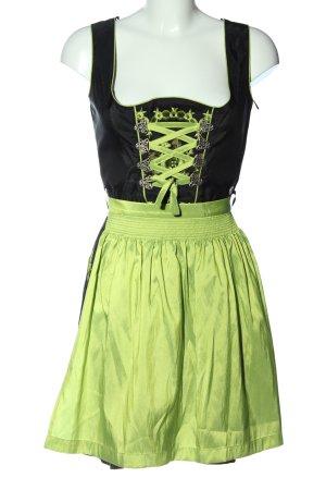 MarJo Dirndl schwarz-grün Blumenmuster Elegant