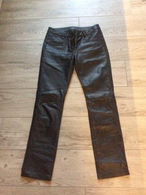 MarJo Pantalón de cuero negro