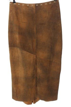 MarJo Jupe en cuir brun style décontracté