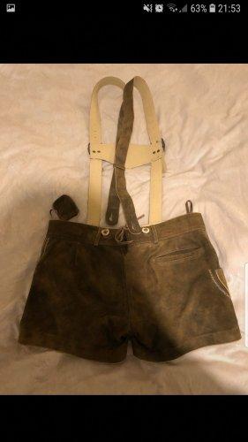 MarJo Pantalón de cuero tradicional marrón-marrón oscuro Cuero