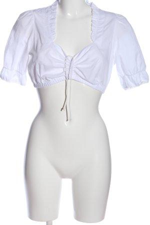 MarJo Trachtenbluse weiß Elegant