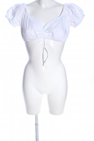 MarJo Blusa tradizionale bianco stile casual