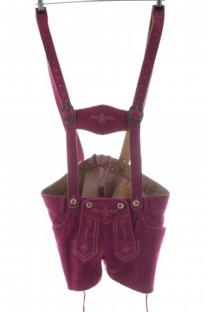 MarJo Trachtenlederhose pink extravaganter Stil