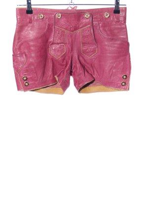 MarJo Pantalón de cuero tradicional rosa elegante
