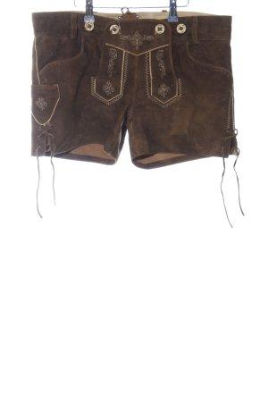 MarJo Pantalón de cuero tradicional marrón Cuero